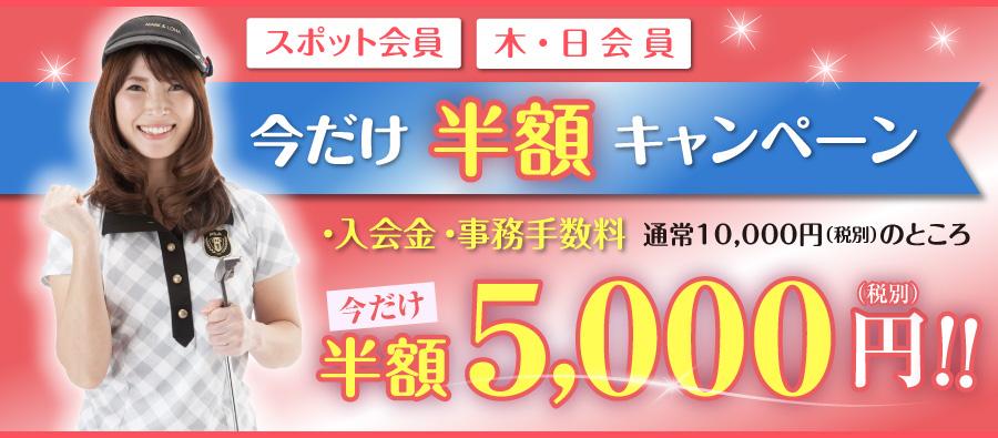 スポット会員/木・日会員半額キャンペーン